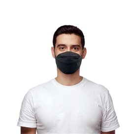 Ribcap Washable Mouth Mask Black